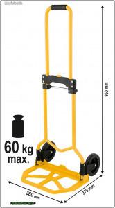 TOYA 78660 Összecsukható molnárkocsi 60kg
