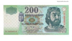 2004 200 forint FC alacsony sorszám UNC