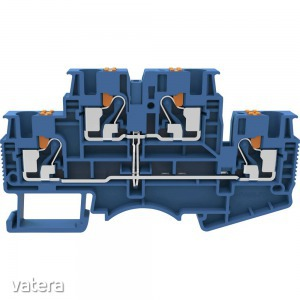 Degson DSKK4-01P-12-50-A(H) Dupla szintes átmenő kapocs Push-in kapocs Kék 1 db