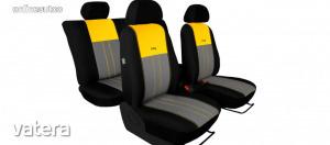 Univerzális Üléshuzat Tuning Due velúr szövet és kárpit kombináció feket szürke és sárga színben