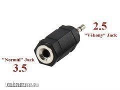 Adapter : Szt Jack dugó 2.5 - 3.5 átalakító