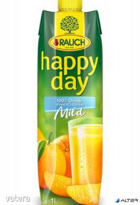 Gyümölcslé, 100%, 1l, RAUCH Happy day, narancs mild C vitaminnal