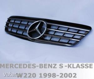 Mercedes Benz W220 1998 - 2002/9 fekete króm hűtőrács AMG stílusban