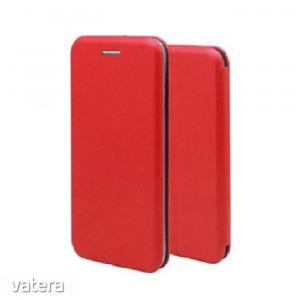 Forcell Elegance Nokia 2.2 (2019) oldalra nyíló mágneses könyv tok szilikon belsővel piros