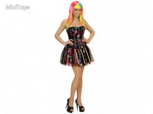 Fantasy Girl - neon szivárványszínű ruha női jelmez