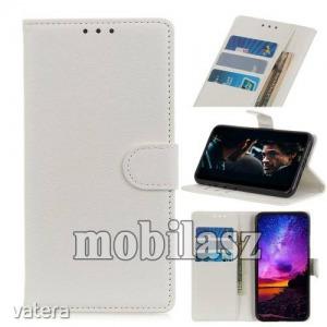 Vodafone Smart V10, Notesz tok, Oldalra nyíló, Asztali tartó funkció, Mágneses záródás, Fehér