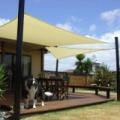 Napvitorla - árnyékoló teraszra, erkélyre és kertbe 5 x 5 x 5 méter