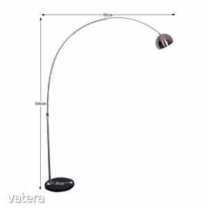 Állólámpa, rozsdamentes acél/fekete márvány,  CINDA TIP 15 F1034-S