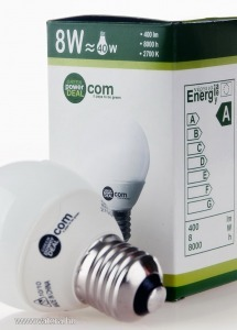 Kompakt fénycső, mini, burkolt, 8 W - 420 Lumen...