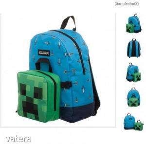Minecraft hátizsák, iskolatáska uzsonnástáskával