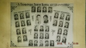 Dombóvár Zrinyi Ilona Ált.leányiskola 1948-56 tablófotó