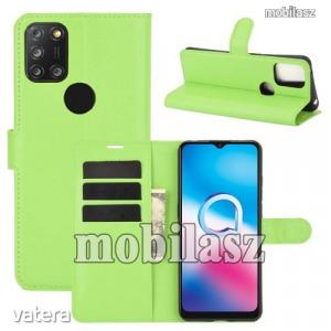 ALCATEL 3X (2020) (5061U), WALLET notesz mobiltok, Zöld