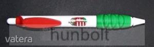 Gumírozott címeres műanyag toll