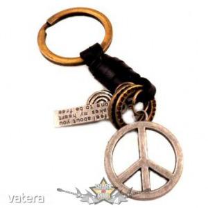 Békejel . fém kulcstartó