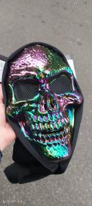 [RAKTÁR] Színes műanyag koponya koponyás maszk
