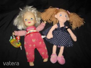 babázás,játékbabák,különlegesek,szépek,MONI baba:38 cm,bukfencező ,és textil baba