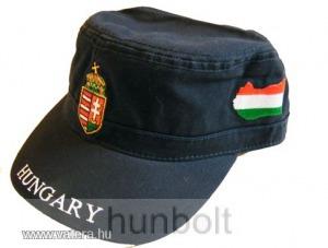 Militari sapka sötétkék, címeres Magyarországos