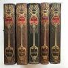Brehm :Az állatok világa sorozat 5 kötete különösen szép, kiadói félbőr díszkötésben  (*710)