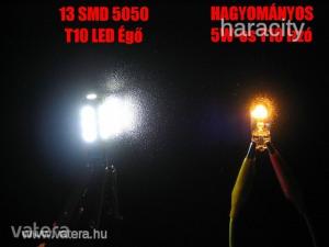 LEDes T10 Izzó 13 SMD LED ( 5050 ) Autó 12V CANBUS