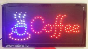 LED világító reklám tábla, Coffe