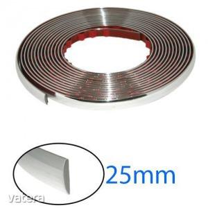 Díszcsík króm 25 mm / 15 m (2806)