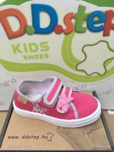 Új D.D.step vászoncipő  20,21,22,23,24   pink