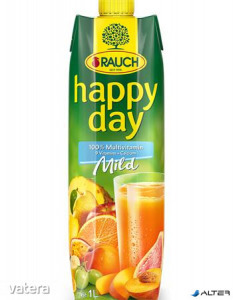 Gyümölcslé, 100%, 1l, RAUCH Happy day, multivitamin mild
