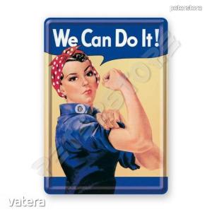 Retró Fém Képeslap - We can do it! - Meg tudjuk csinálni!