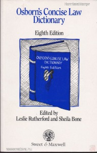 OSBORN?S CONCISE LAW DICTIONARY