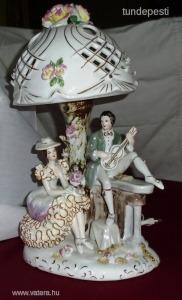 Porcelán asztali lámpa-2