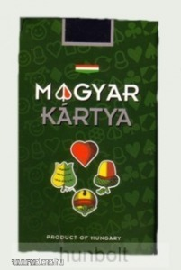 Dobozos Magyar kártya, dupla kartonos, grafit betétes