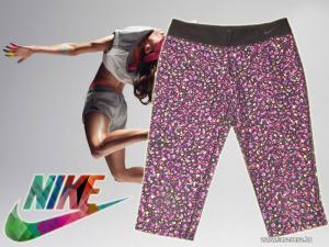 Nike Dri-Fit elasztikus mintás, fitnesz nadrág! 10-12 éves lánynak!