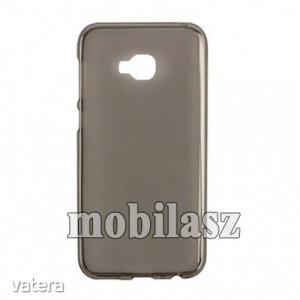 Szilikon védő tok / hátlap - SZÜRKE - fényes keret, matt hátlap - ASUS Zenfone 4 Selfie Pro (ZD55...