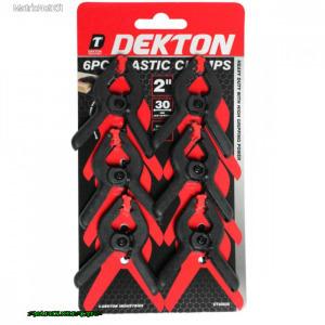 Dekton Szorító csipesz 6 db, 50/30 mm DT60626