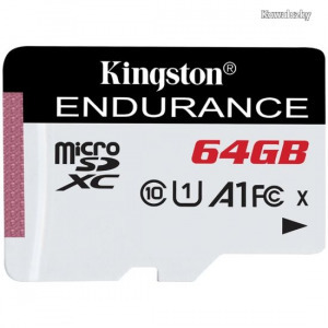 Kingston 64GB microSDXC High Endurance Class10 A1 UHS-I adapter nélkül SDCE/64GB