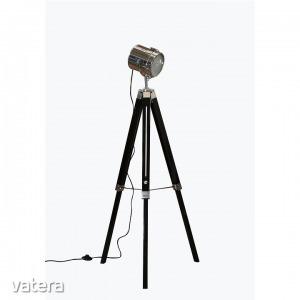 Állólámpa fekete fa/fém,  CINDA TIP 26 YF819-B