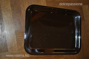 Inox 35x28 cm fém tálca szögletes