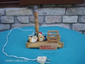 185/18 Törpés kis lámpa Happy Birthday felirattal