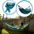 2 személyes színes függőágy hordtáskával 200x150cm - Kék-Zöld