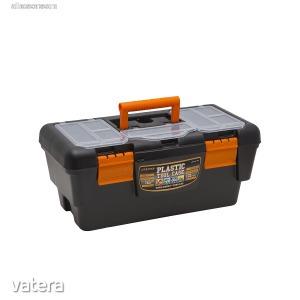 Műanyag szerszámtartó láda 16 - 400x220x180 mm (10911)