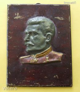 Sztálin fali fém plakett 1950-es évek, magyar gyártmány  19120809