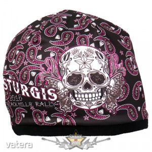 Butterfly Sugar Skull Beanie - Official Sturgis Motorcycle Rally. Hot Leathers Sublimated. USA. k...