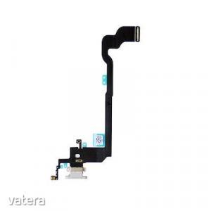 Apple iPhone X fehér töltőcsatlakozó szalagkábel mikrofonnal