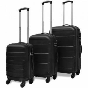 Bőröndszett 3 darabos Fekete 4ce16b1e78
