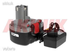 Helyettesítő akku Bosch fúró-csavarbehajtó GSR 14,4VE2 O-akku Li-Ion + töltővel