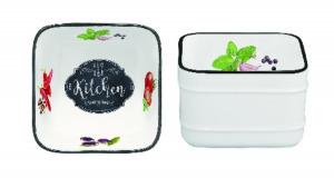 Porcelán tálka 9x9cm, Kitchen Basics