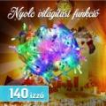 140 színes LED-es karácsonyfa izzósor