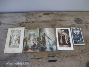 Gyönyörű ritka antik szentképek,képeslapok 5db