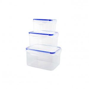 Plastor Trading R3-912877 Ételtároló doboz szett 3 részes 550-1200-2200 ml