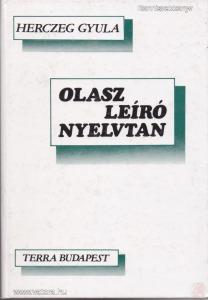 OLASZ LEÍRÓ NYELVTAN